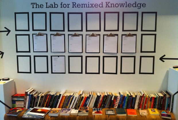 The Lab for Remixed Knowledge trains DJs of Thought to sample, break down, and remix all sources of knowledge...
